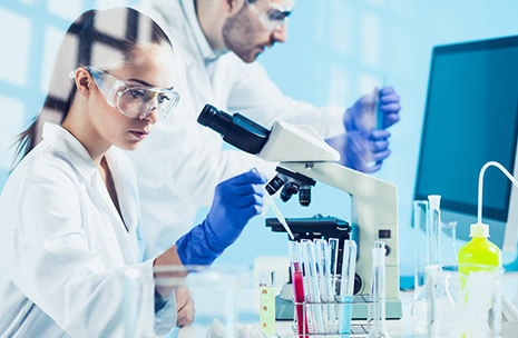 Photo of scientists in a laboratory