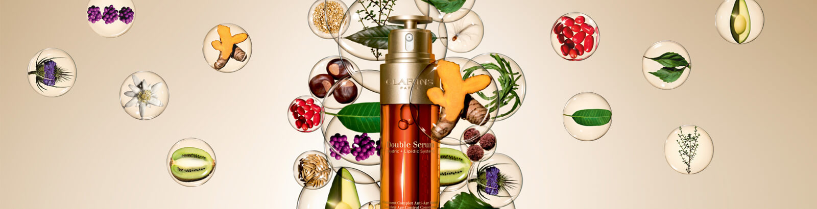 Double Serum. 21 potent plant extracts for our most powerful age control concentrate ever.