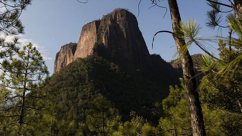 Paysage d'une montagne