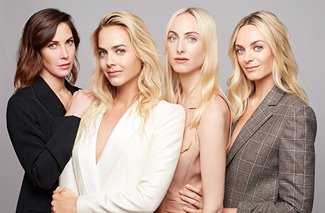 Photo of Claire, Jenna, Prisca and Virginie Courtin-Clarins