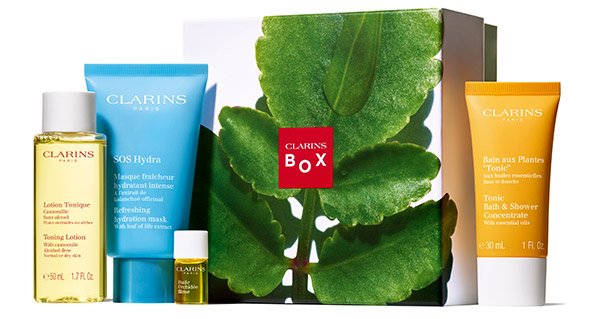 In my Clarins Love Nature Box