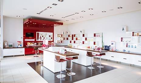 Intérieur boutique Clarins