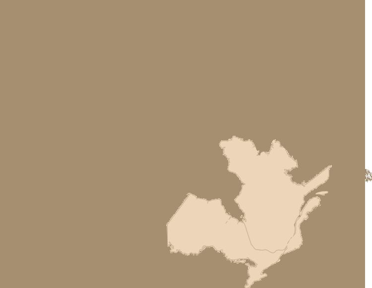 Carte des provinces du Québec et de l'Ontario