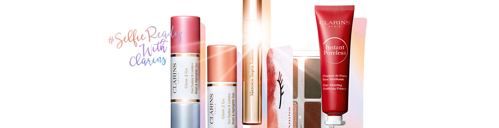 Prête pour les plus beaux selfies ? C'est dans la poche avec la nouvelle collection maquillage Clarins !